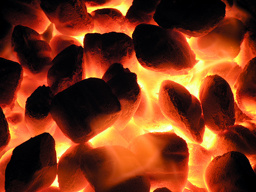 Heaping coals